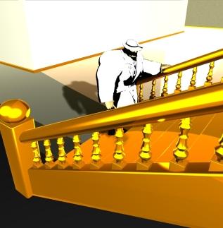 Grand Staircase #1 (2006, Poser 6)