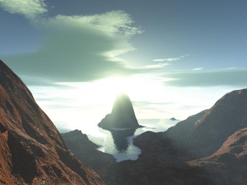 Sunrise. (2003, Terragen)