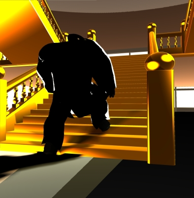 Grand Staircase #2 (2006, Poser 6)